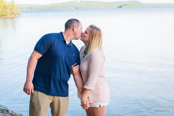 Lake Wentworth, New Hampshire Engagement: Vicki & Adam