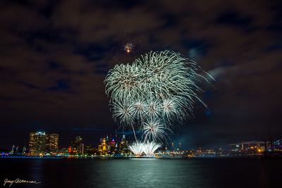 2015 Tall Ships Festival Fireworks - Philadelphhia