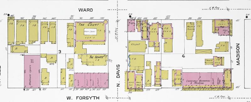 West Forsyth Street 1913 Sanborn.png