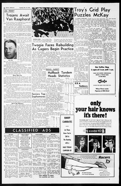 Daily Trojan, Vol. 55, No. 17, October 15, 1963