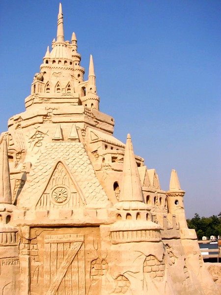 World's Largest Sand Castle, 2007, Point Sebago, ME