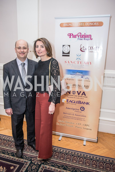 Dr. and Mrs. Hossein Razavi, Iranian-American Nowruz Reception, Washington, DC, Carnegie Institute of Science, March 15, 2018.  Photo by Ben Droz.