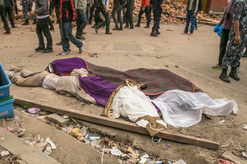 Casualties in Kathmandu.