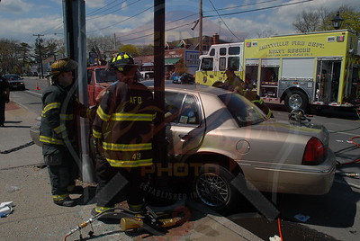 Amityville F.D. MVA w/ ntrapment Merrick Rd. and Park Ave. 4/29/11