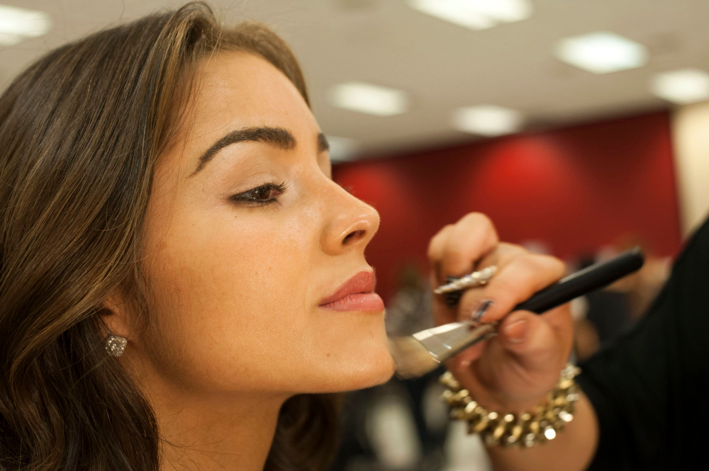 . Olivia Culpo of the U.S. gets her makeup done as part of preparations for the Miss Universe 2012 pageant in Las Vegas, Nevada December 4, 2012. The pageant, will be held on December 19, 2012 at the Planet Hollywood Resort & Casino in Las Vegas. REUTERS/Valerie Macon/Handout