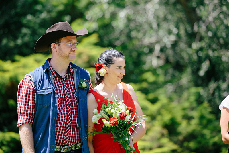 Cowboy and Cowgirl wedding