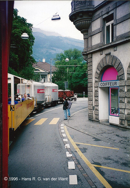RhB, through the streets of Chur, 26-08-1996