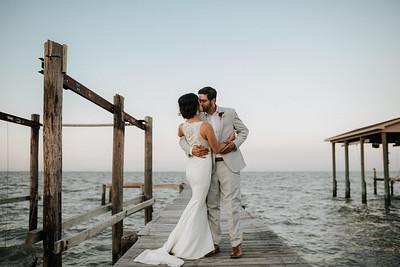 Beautiful Backyard Wedding on Galveston Bay