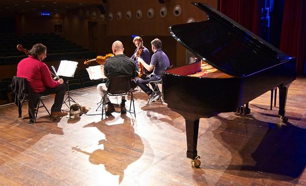 Andrea Lucchesini, Luca Ranieri e il Quartetto di Cremona - Teatro Sociale di Pinerolo, 6 novembre 2012, prove e concerto / rehearsal and concert