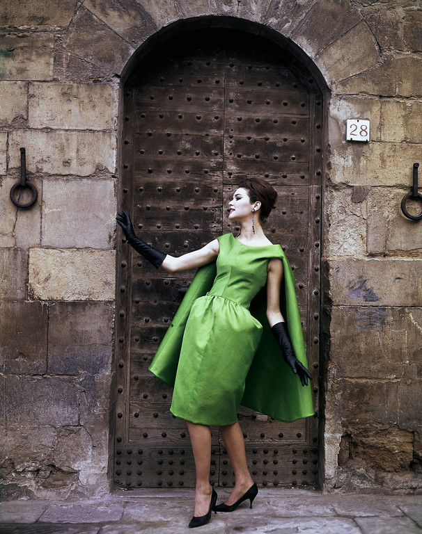 . Italian fashion dress in 1967. Creation by the Farsoni fashion house of Rome. (AP Photo)
