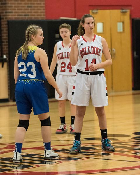 2020 JV Girls Basketball:  Hall-Dale vs Mt Abram