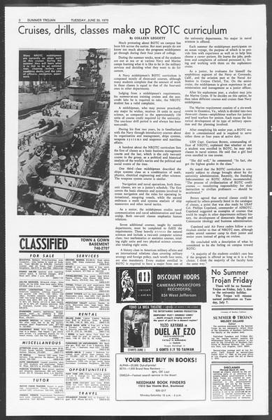 Summer Trojan, Vol. 62, No. 4, June 30, 1970