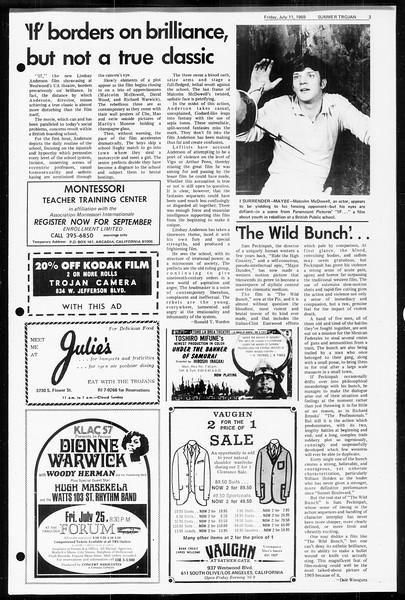 Summer Trojan, Vol. 60, No. 7, July 11, 1969