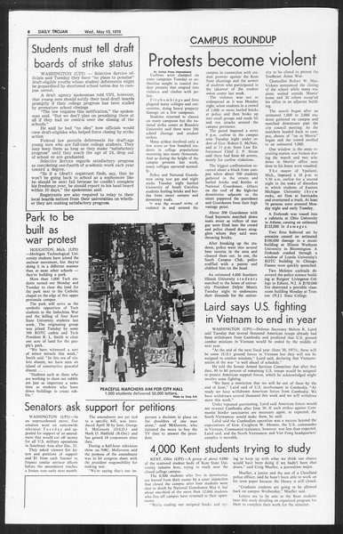 Daily Trojan, Vol. 61, No. 124, May 13, 1970