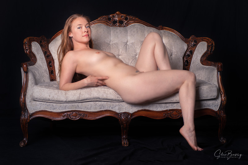 A Nude Muse on Couch