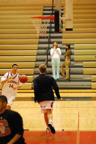 Clackamas JV Basketball vs. West Linn 1/25/08