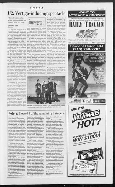 Daily Trojan, Vol. 154, No. 49, April 04, 2005