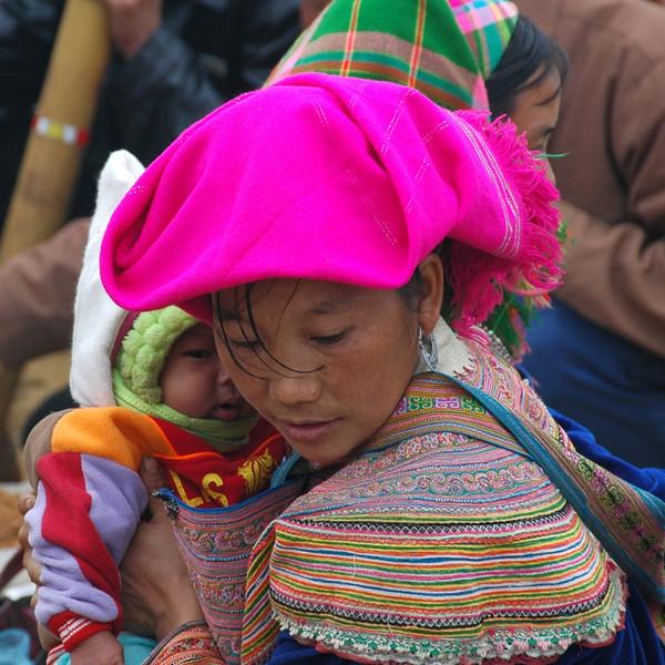Woman and Baby - Bac Ha, Vietnam
