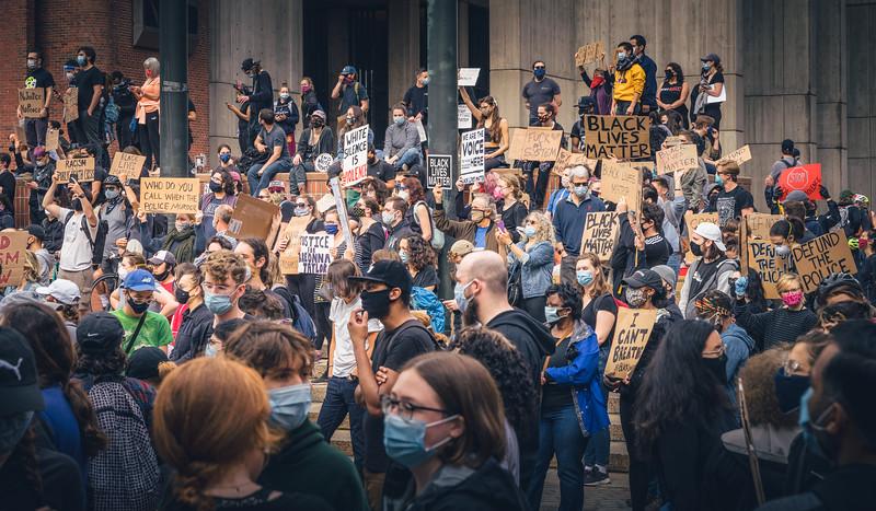 Black Lives Matter Protest at City Hall Plaza