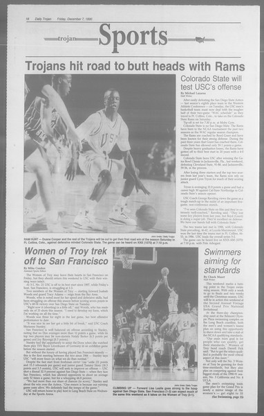 Daily Trojan, Vol. 113, No. 65, December 07, 1990