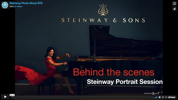 Steinway Beverly Hills Portrait Session with Noreen Wenjen - pianist, piano teacher, entrepreneur and author.