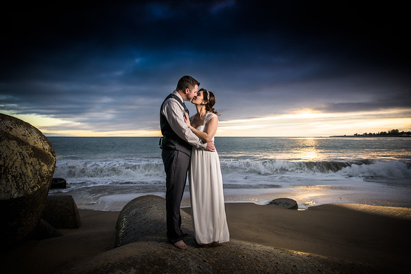 Lauren and Marc (Small Wedding Photography) @ Seabright Beach, Santa Cruz, California