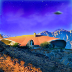 "Mid-Century  Sightings UFO ""Glow in the dark "" fuzzy  UFO's watercolor art  Robert Dunhay artist  and Arthur Coleman Photographer"