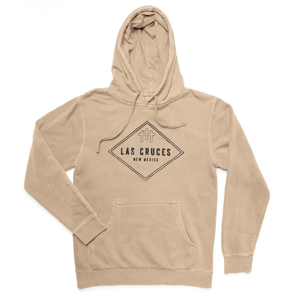 Outdoor Apparel - Organ Mountain Outfitters - Hoodie - 3 Crosses Heavyweight Hooded Sweater Sandstone Front.jpg
