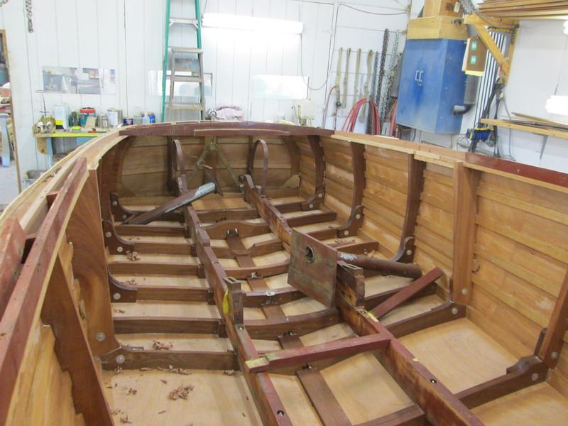 Rear deck frames removed.