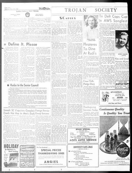 Daily Trojan, Vol. 40, No. 51, November 23, 1948