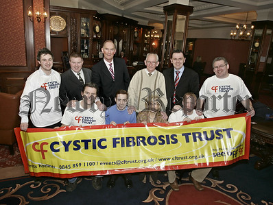 Launch of Sports Stars Charity Fundraiser, Pictured Down and Armagh GAA players, members of Cystic Fibrosis Trust Warrenpoint, in pcture, Back L.to R.Conor Mc Garry,(CFT Warrenpoint),Cathal Mc Anulty, (CFT Warrenpoint),Liam Austin, (Former Down Player), Tommy Mc Givern, Miceal Magill, (organisor), Tom Mallon, (Cystic Fibrosis Trust), Front,Jarlath Burns, (Former Armagh captain),Tarlach Mc Anulty and Theresa Mc Garry, (Warrenpoint CFT),Benny Tiernan. (Former Armagh Goalkeeper). 06W8N10