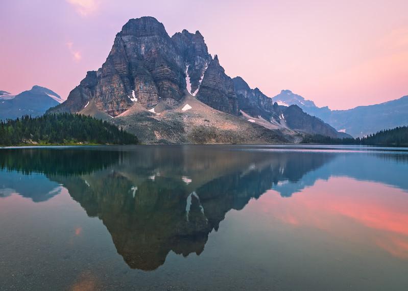 Reflective Cerulean Lake