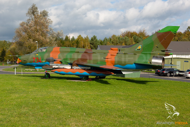 German Democratic Republic - Air Force / Sukhoi Su-22M4 Fitter K / 734