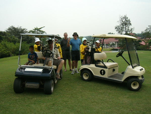 A round of golf in Laos
