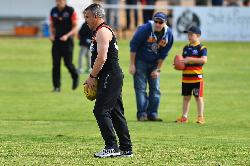 Legends (past and present) goal kicking at SANFL game