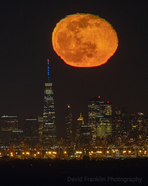 Monster Moonrise over NYC