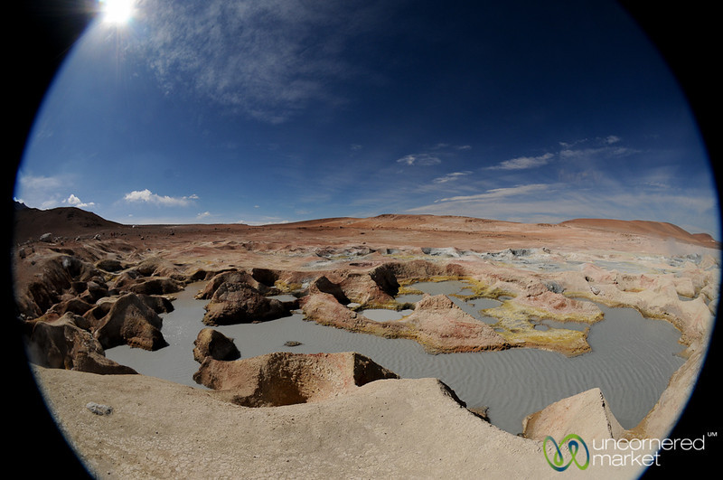 Fumaroles at Sol de Manana - Salt Flats Tour, Bolivia