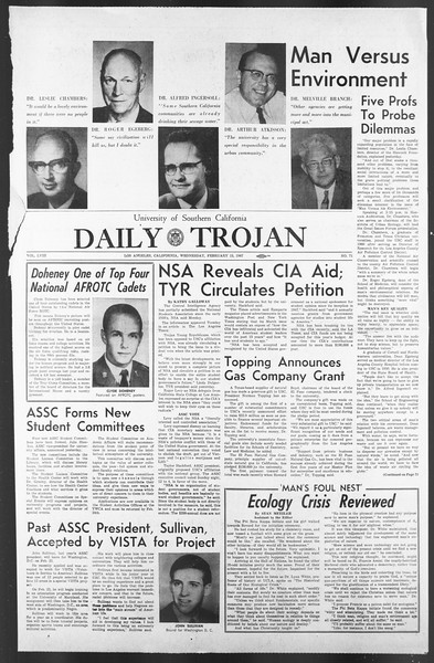Daily Trojan, Vol. 58, No. 71, February 15, 1967