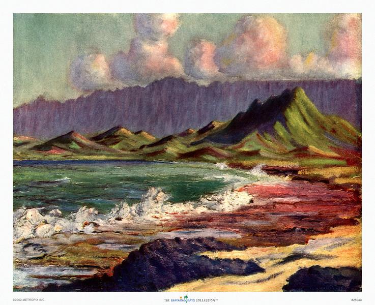 250: 'Sunset at Kailua' Painting by L.W. Luma. Ca. 1924.