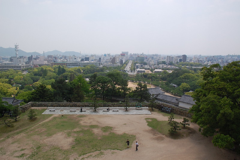 The view from the top of Himeji Castle