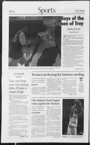Daily Trojan, Vol. 157, No. 21, February 09, 2006