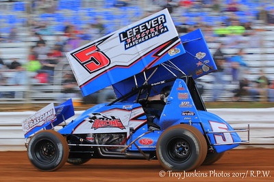 Lincoln Speedway IceBreaker 30 for Sprint Cars 2/25/17- Troy Junkins Photos 2017