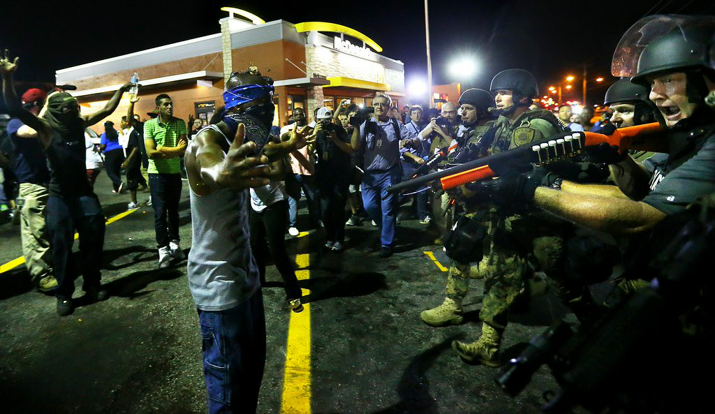 ". 3. FERGUSON <p>There�s no justice, no peace when the urine bottles start flying. (unranked) </p><p><b><a href=""http://stlouis.cbslocal.com/2014/08/20/time-to-kill-a-cop-ferguson-protesters-throw-urine-bottles-at-police/\"" target=\""_blank\""> LINK </a></b> </p><p>   (AP Photo/Atlanta Journal-Constitution, Curtis Compton)</p>"