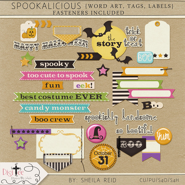 Spookalicious Kit Freebie!