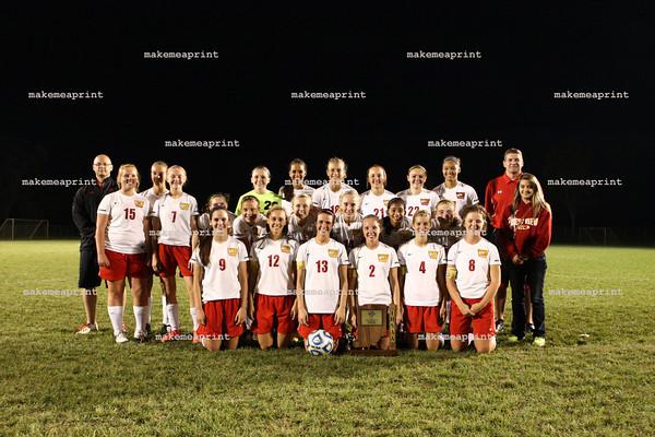 Varsity Girls Soccer Sectional Win