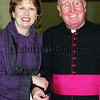 Monsignor Arthur Bradley, President of Ireland Mary McAleese and her Husband.