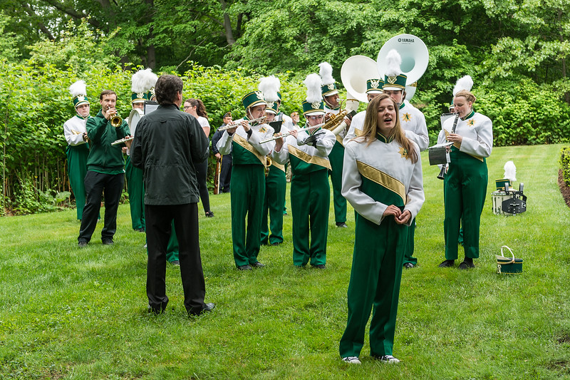 Abington High School Band perform God Bless America at Mount Vernon Cemetery - Abington Memorial Day Observance 5/28/18  [Wicked Local Photo/Bill Marquardt]