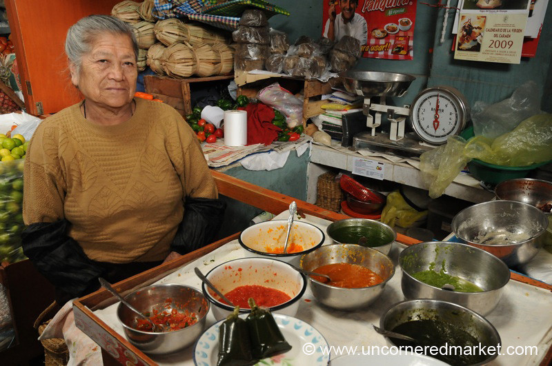 Aji Pepper Sauce Vendor - Cajamarca, Peru