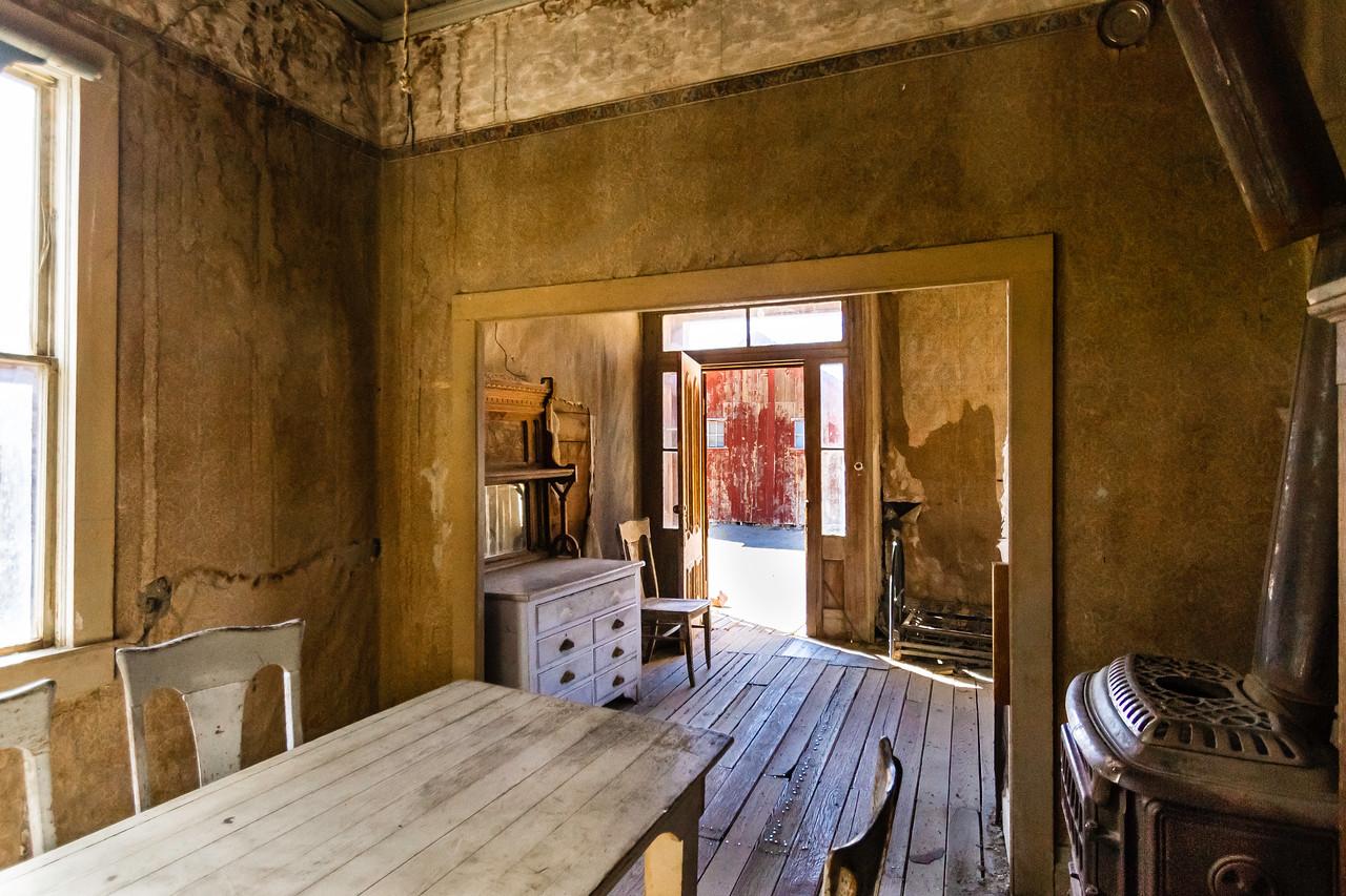 Bodie House interior