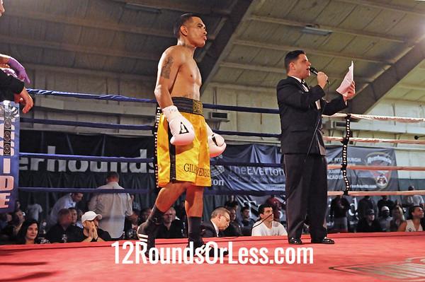 Bout 3 Samuel Vasquez, Monessen, PA -vs- Gilbert Venegas, East Moline, IL, Light Middleweight